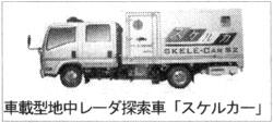 車載型地中レーダ探索車「スケルカー」