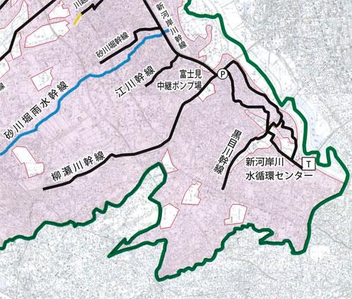 市内外の下水道幹線