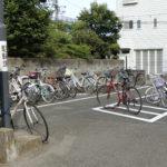 自転車置き場が整然と 中央図書館前の通路も改善される