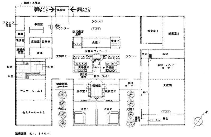 建替え予定の第二老人福祉センターの設計図