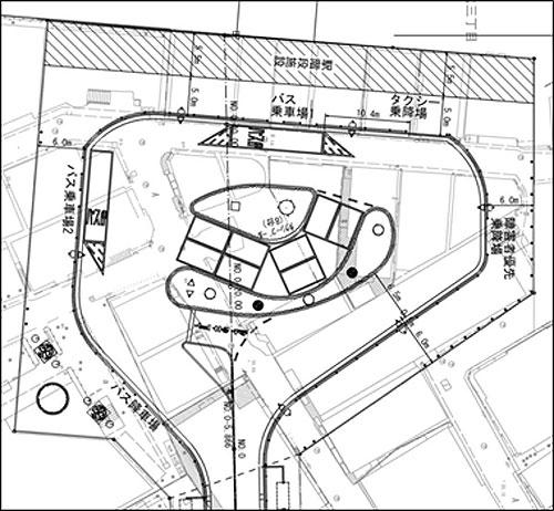 ひばりヶ丘駅北口ロータリー完成予定図