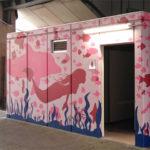 大学生がデザインしたトイレ外壁