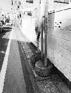 志木街道・新座志木中央病院向かいの歩道が整備されます