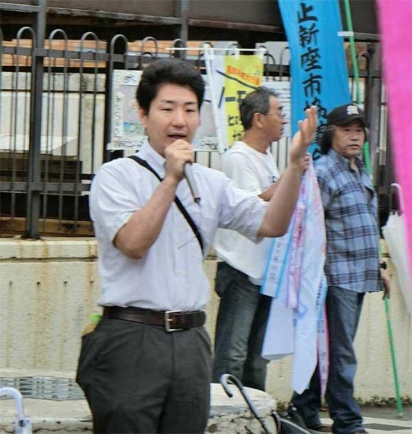 日本共産党の小野だいすけ市議がスピーチ