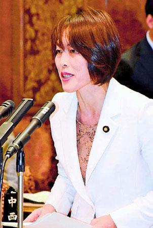 質問する田村智子議員=8日、参院予算委