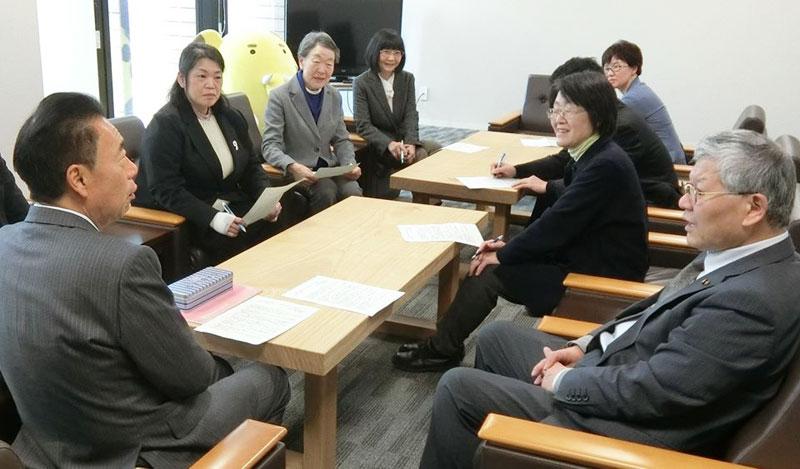 日本共産党市議団が市長に予算要望