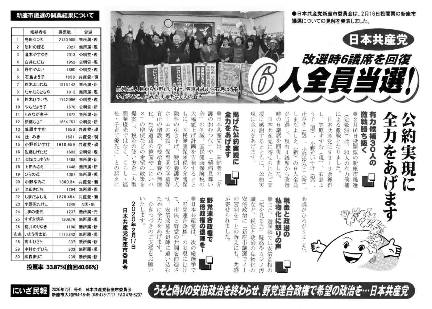 にいざ民報 2020年2月 号外