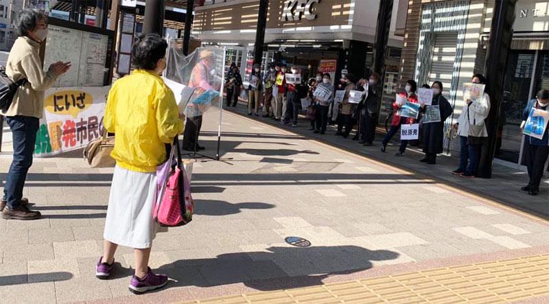 第50回「脱原発にいざスタンディング」@志木駅南口