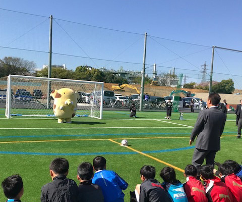新座市大和田少年サッカー場がオープン