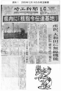 資料1 2005年12月14日の埼玉新聞