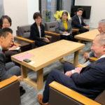 伊藤岳参議院議員と並木市長が懇談