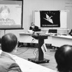 日本被団協の集会にビデオメッセージを寄せる中満泉氏=22日、衆院第2議員会館